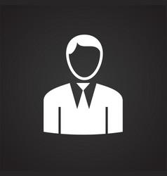businessman on black background vector image