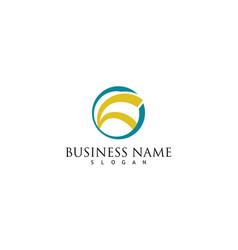 circle company logo vector image
