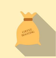 Coffee canvas bag on a transparent background vector