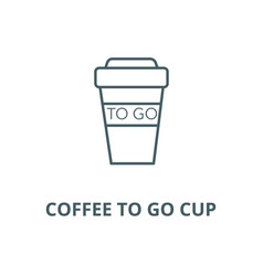 coffee to go cup line icon coffee to go vector image