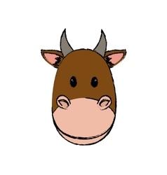Cow animal cartoon vector