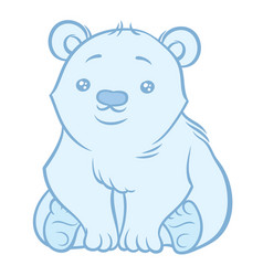 Cute polar bear vector