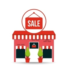 Cute store shopping sale design vector