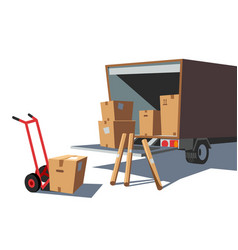 delivery goods service vector image