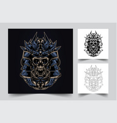 devil samurai artwork vector image