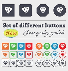 Diamond icon sign Big set of colorful diverse vector