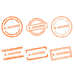 E-scooter stamps vector