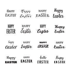 easter hand drawn calligraphy vector image