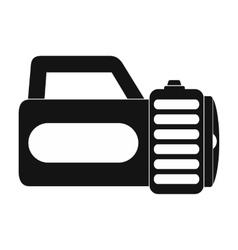 Flashlight black simple icon vector