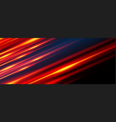 Glowing line banner gaming background light vector