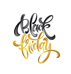 gold black friday sale calligraphy lettering vector image