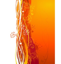 Grunge orange background vector image