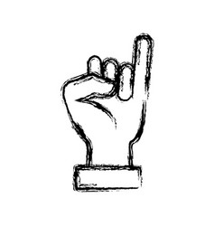 hand with small finger up vector image