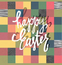 happy easter greeting card mosaic seamless vector image