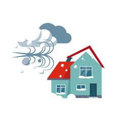 Hurricane insurance vector