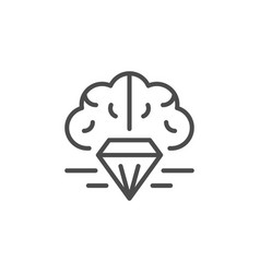 Intellectual property line outline icon vector