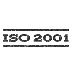 ISO 2001 Watermark Stamp vector