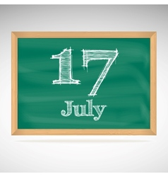 July 17 day calendar school board date vector
