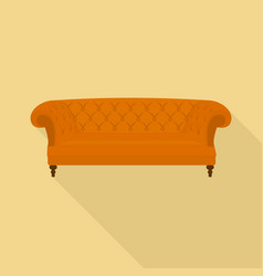 leather sofa icon flat style vector image
