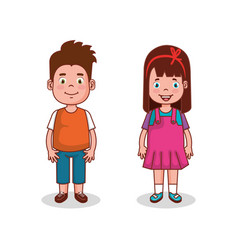 Little kids group avatars characters vector