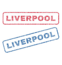 liverpool textile stamps vector image