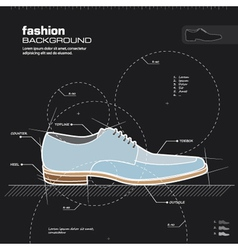 Man shoe design vector image