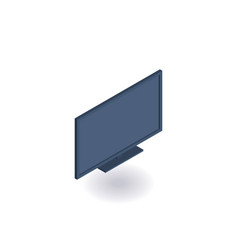 monitor tv isometric icon vector image