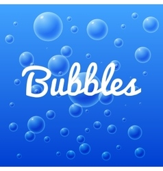 ocean and sea bubbles with inscription vector image