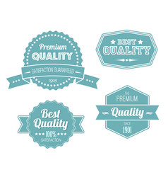 old blue retro vintage labels vector image vector image