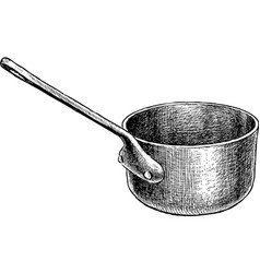 Old copper ladle vector