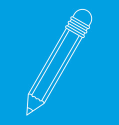 Pencil with eraser icon outline vector