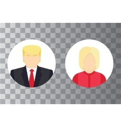 Presidential candidate isolated Icons Election vector image