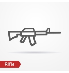 Rifle silhouette icon vector
