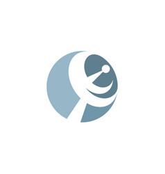 Satellite antenna logo icon design vector