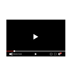 screen video player vector image