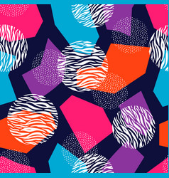 seamless geometric pattern design with dots vector image