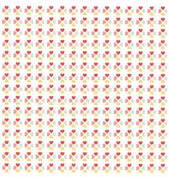 Seamless hearts pattern wallpaper vector image