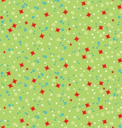 Seamless pattern with Christmas stars vector image