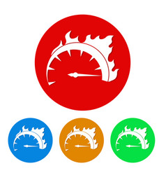 Set of speed icon button stock vector