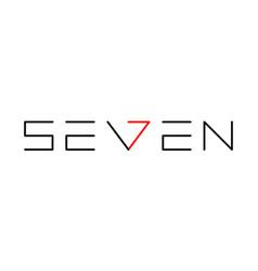 Seven se7en logo monogram vector