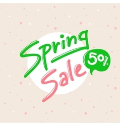 Spring sale design with lettering in soft vector