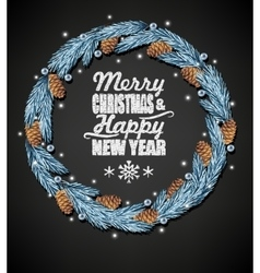 Spruce christmas wreath vector