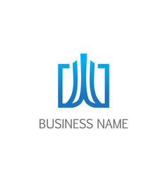 square abstract building business logo vector image