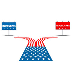 standing at crossroad usa political party vector image