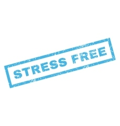 Stress Free Rubber Stamp vector