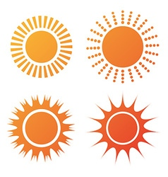 Sun and summer design vector image