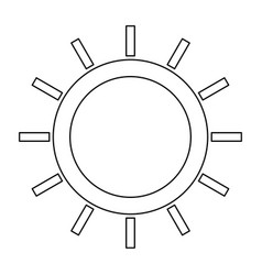 Sun the black color icon vector