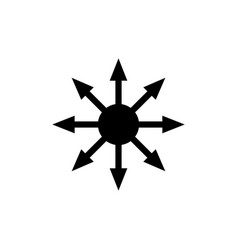 symbol chaos isolated on white vector image