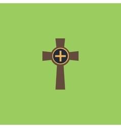 Tombstone - cross gravestone icon vector image