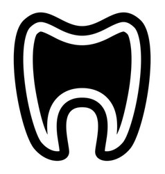tooth with root icon simple style vector image vector image